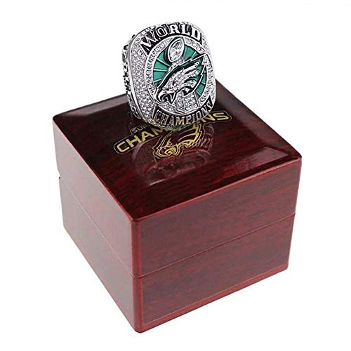 - AMOH JERCY 2017-2018 Philadelphia Eagles Football Super Bowl LII World Foles and Wentz Championship Replica Ring with Wooden Box (11, Wentz)