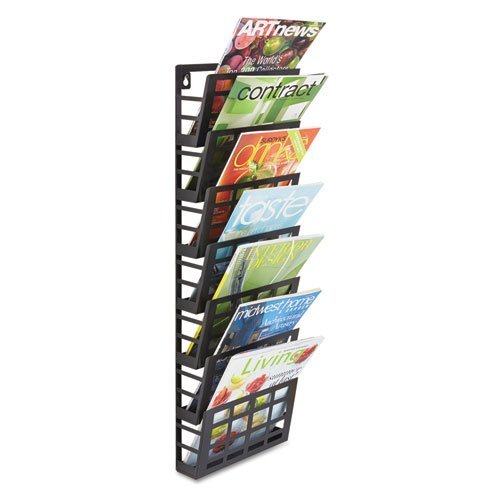 - SAF4662BL - Safco 7-Pocket Grid Magazine Rack