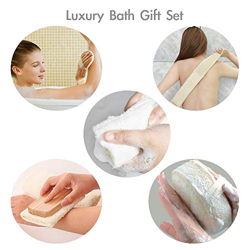 FYD Loofah Luxury Home Spa Gift Set All in One - Loofah Sponges,Loofah Belt, Loofah Long Handle, Loofah Pads Exfoliating Set Improve Skin Health and Cellulite Blood Circulation by FYD (Image #6)