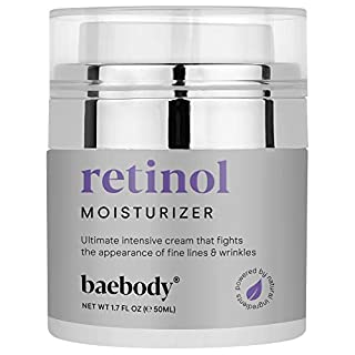 Baebody Retinol Moisturizer Cream for Face, Neck and Décolletage with Wrinkle and Acne Fighting Retinol, Jojoba Oil and Vitamin E, 1.7 Ounces