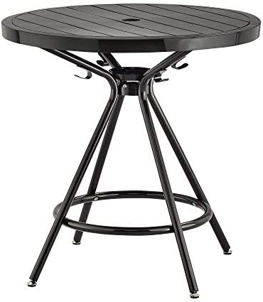 Safco Products Indoor Outdoor Table, 30 Round, Black