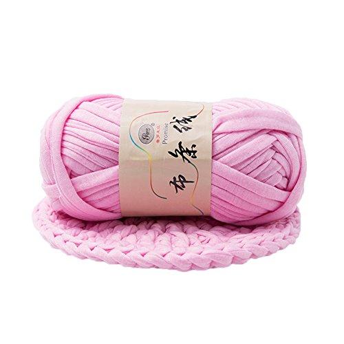 Light Fancy Yarn (preliked Hand-knit Woven Thread Thick Basket Blanket Braided DIY Crochet Cloth Fancy Yarn (Light Pink))