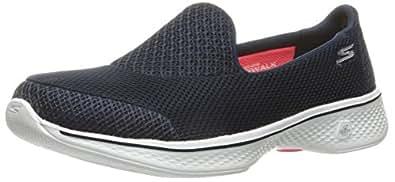 Skechers GO WALK 4 - PROPEL Women's  Walking Shoe, Navy/White, 6 US