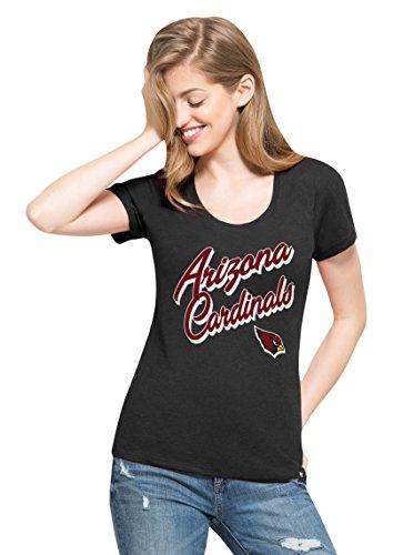 Nfl Arizona Cardinals Womens 47 Club Scoop Tee  Medium  Jet Black