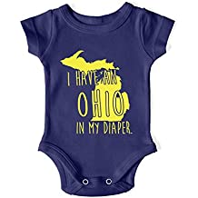 In My Diaper I Have an Ohio UM Michigan Fans Baby One Piece