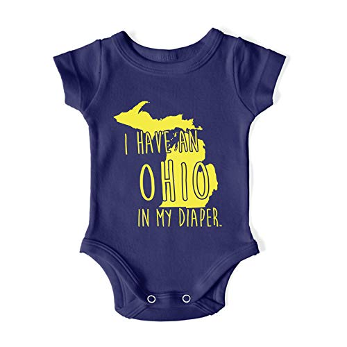 In My Diaper I Have an Ohio UM Michigan Fans Baby One Piece 18 Months Navy