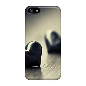 Top Quality Rugged Stone Heart Case Cover For Iphone 5/5s