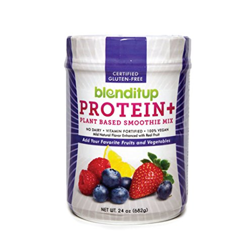 Berry Protein Powder Vegan Smoothie Mix With Berries (Strawberry, Raspberry, Blueberry) Gluten Free, GMO Free, Dairy Free - Nutritional Supplement - Nature Made - Kosher Food - 24 Oz by BlendItUp (Berry Healthy Drink Mix)