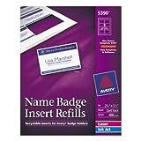 Additional White Laser/Inkjet Insert for Badge Holder,2 1/4 x 3 1/2,White,400/BX, Sold as 50 Sheet
