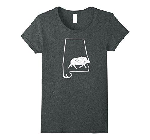 Javelina Target (Womens Javelina Target Wild Pig Target Alabama Wild Hog Boar Medium Dark Heather)