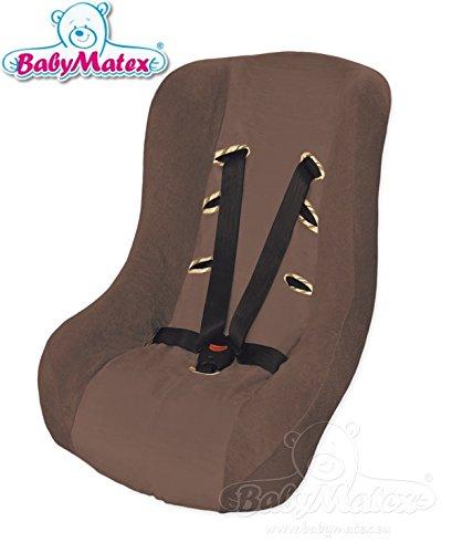 BabyMatex ** SOFT TOUCH Ersatzbezug / Schonbezug ** 3 UND 5 Punkt Gurt System -- Universal Ersatz-Bezug für Baby-Autositz / Babyschale / Autokindersitz z.B. für Maxi-Cosi CabrioFix, SPS, Citi, Römer Babysafe etc. (Braun)