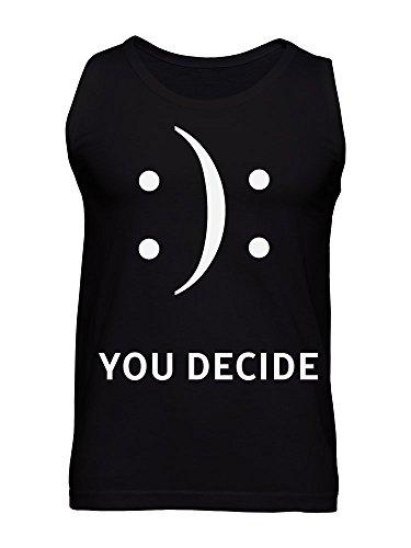 You Decide Smile Emoji Happy or Sad Men's Tank Top