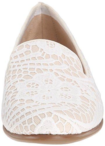 35 Eu Aerosoles White da Schwarzes Betunia Leder Combination Ballerine donna wZqYCw0