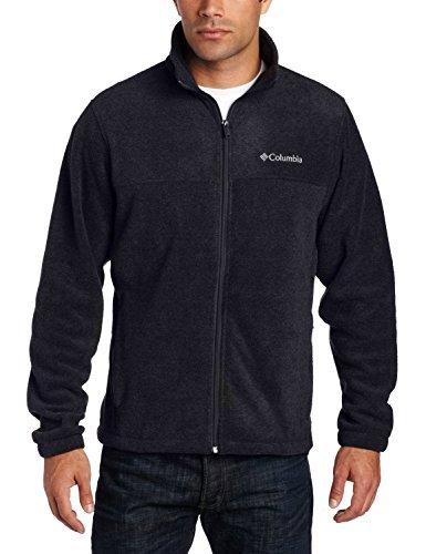 Extreme Fleece Long Sleeve - Columbia Men's Granite Mountain Fleece Jacket-Black-Large