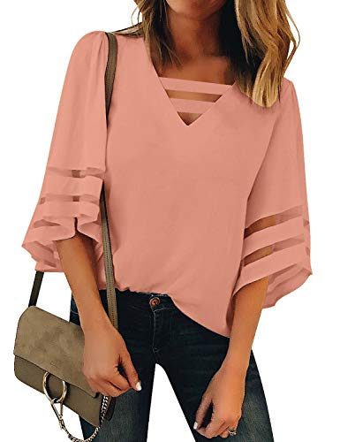 LookbookStore Womens Casual Blouse Sleeve
