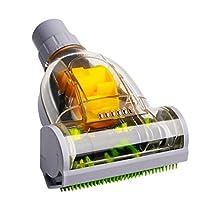 MonkeyJack Universal Vacuum Turbo Floor Brush Cyclone Brushes Pet Hair Mites Remover Kits Carpet Bedding Cleaning - Gray, 35mm Inner Dia.