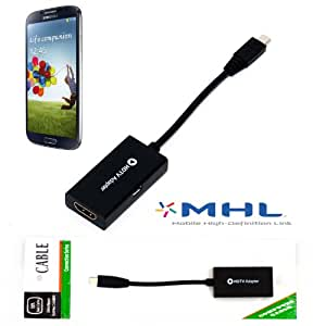 MHL to HDMI TV-out for Samsung Galaxy S4 Note 2 Adapter HDTV 11 pin Cable from HNPtech