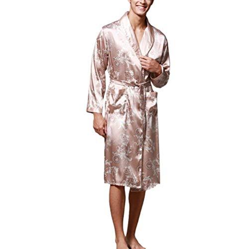 Smanicato gold Uomo Camicia Battercake Di Notte Accappatoio Da Seta Confortevole Sexy Comodo Blue Amanti fXfRWZFw