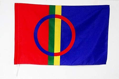 Bandera DE SAAMI 90 x 150 cm AZ FLAG Bandera del Pueblo LAP/ÓN 150x90cm para Palo