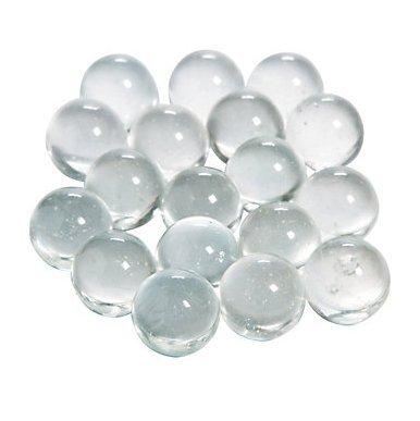 Dashington Round Clear Marbles, Bulk Bag - 5 Pound Bag