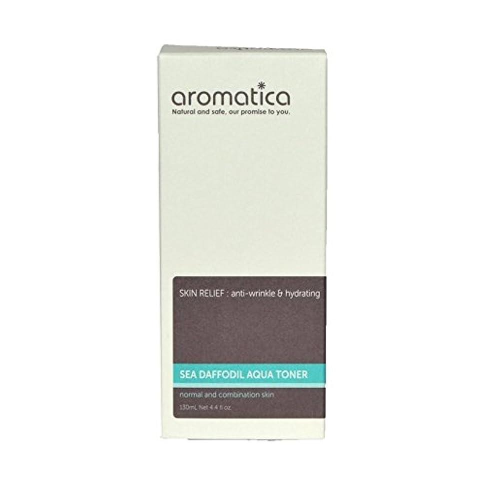 病院非アクティブ控えめな海スイセンアクアトナー130ミリリットル x4 - aromatica Sea Daffodil Aqua Toner 130ml (Pack of 4) [並行輸入品]