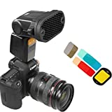 FidgetFidget Color gels Filter Kits Photo Shooting Flash Speedlite Purpose Honeycomb Grid & 7