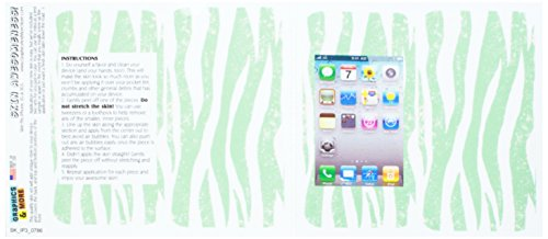 otective Skin Sticker Case for iPhone 3G 3GS - Non-Retail Packaging - Zebra Distressed Mint (Iphone 3g Zebra)
