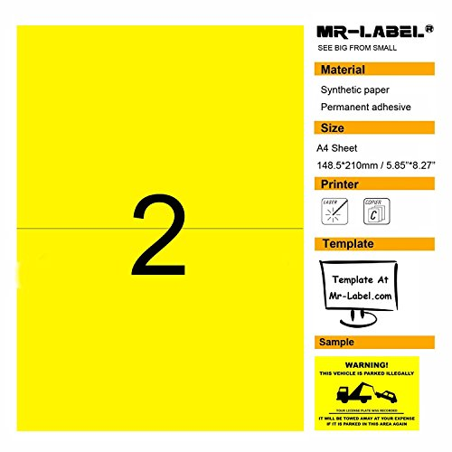 Yellow Blank Labels - 9