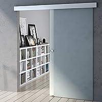 90 x 205 cm Diseño de correderas de cristal de puerta de Amalfi TS12-900, de vidrio templado de cristal de seguridad satinado: Amazon.es: Bricolaje y herramientas