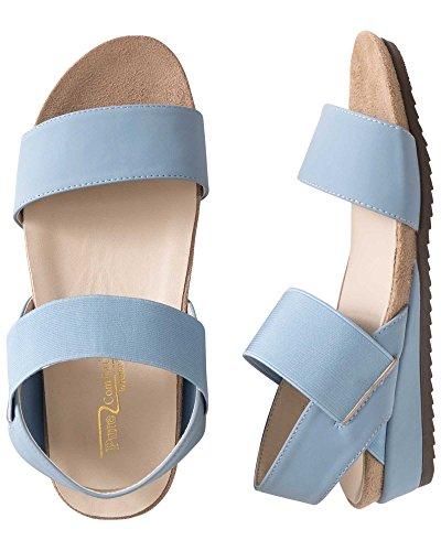 Beacon Sandra Comfort Stretch Sandalen Antiek Blauw