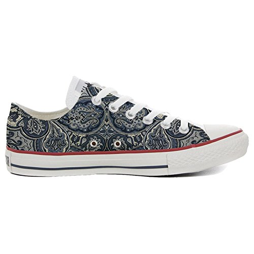 mano zapatos personalizados Paisley Converse ALL zapatos Blue STAR Customized hechos a SqIX8wZ