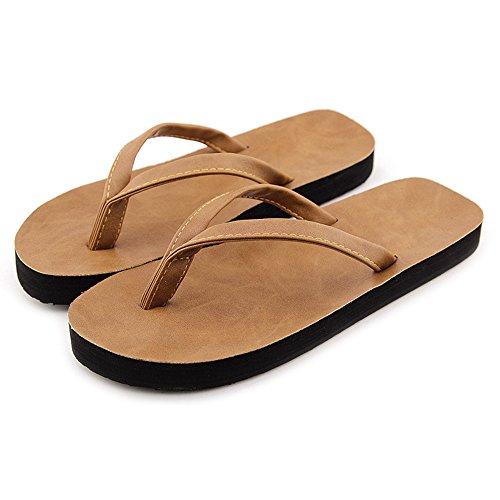 DULEE - Zapatillas de estar por casa para mujer marrón