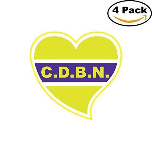 fan products of Club Defensores del Barrio Nebel de Concordia Argentina Soccer Football Club FC 4 Stickers Car Bumper Window Sticker Decal 4X4