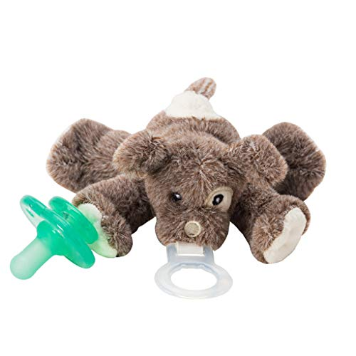 Nookums Paci-Plushies Puppy Buddies - Pacifier Holder (Plush Toy Includes Detachable Pacifier, Use with Multiple Brand Name Pacifiers)