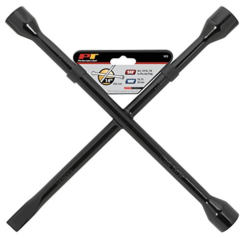 14 inch SAE/Metric Combination Lug Wrench with Spade Tip ()