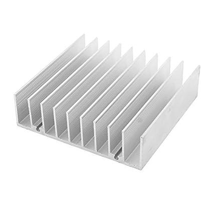 Amazon.com: eDealMax de aluminio del disipador de calor difusa Radiación de disipación del refrigerador de la Aleta 76 x 70 x 21 mm: Electronics