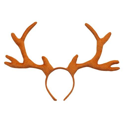 Cute Costumes Dog Handmade (Evaliana Christmas Reindeer Antlers Horns Headband Sika Deer Easter Party Costume)