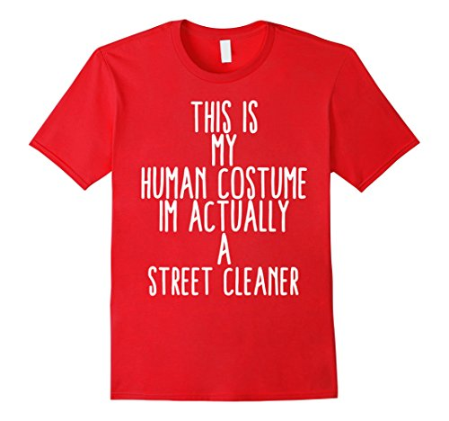 Costume City Red Party Queen (Mens Human Costume Street Cleaner Sweeper Gift Shirt City Cleanin 2XL)