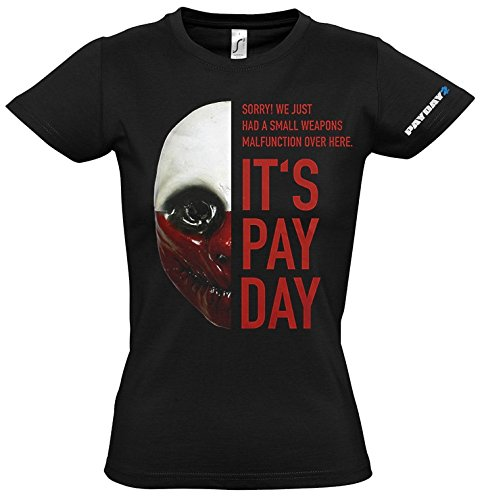 Payday 2 Wolf Costume (PAYDAY 2 Women's Wolf Mask T-Shirt (X-Large/Black))