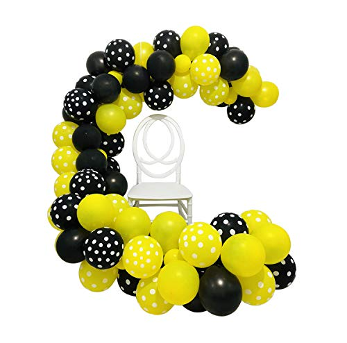(Bumblebee Party Decoration Bumble Bee Balloons Garland Arch Kit 16Ft Long 10 Inch Yellow Balloons Black Balloons White Polka Dot Balloons Backdrop for Bumblebee Bee Baby Shower Gender Reveal Birthday Party Decoration Wedding Bridal Shower Centerpieces Home Decor)