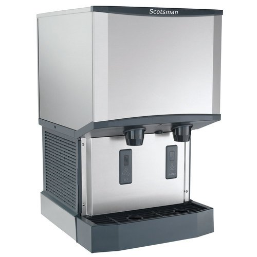 - Scotsman HID525A-1 Meridian Countertop Air Cooled Ice Machine and Water Dispenser - 25 lb. Bin Stora