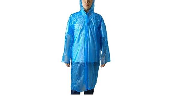 Amazon.com: eDealMax Los adultos Solo pecho de plástico Con Capucha capa de Lluvia del Poncho Azul: Home & Kitchen