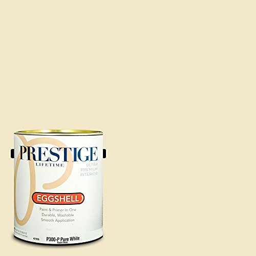 Lustre Shell - Prestige Paints Interior Paint and Primer In One, 1-Gallon, Eggshell,  Comparable Match of Benjamin Moore Ivory Lustre