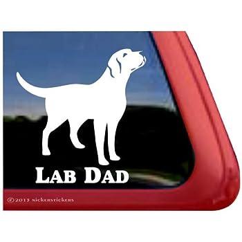 "Yellow Lab Labrador Retriever Dog Pet Pets Car Bumper Vinyl Sticker Decal 4.6/"""