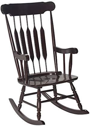 GiftMark Adult Solild Rocking Chair, Espresso