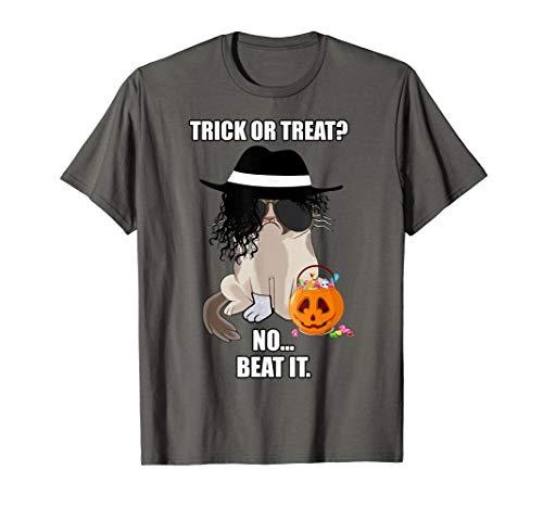 Grumpy Cat Halloween Costume Trick Or Beat It T-Shirt]()