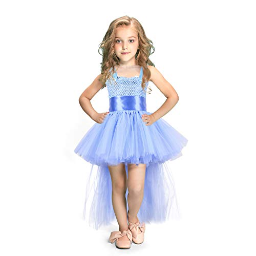 Handmade Kids - LEEGEEL Handmade Girls Tutu Dresses Girls Tulle Dress for Birthday Party, Photography Prop, Special Occasion Light Blue