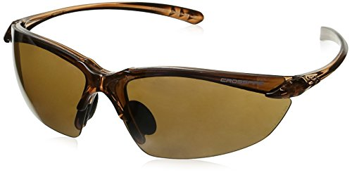 Crossfire 9117 Sniper Safety Glasses HD Brown Flash Mirror Lens - Crystal Brown Frame - Frame Brown Mirror Lenses
