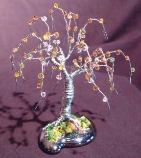 Amazon Com Bonsai Boy S Alambre Arbol Bonsai Escultura Abalorio Mini Arbol 4 X 4 X 4 Jardin Y Exteriores