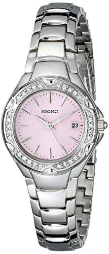 - Seiko Women's SXDC53 Crystal Sporty Dress Pink Dial Watch